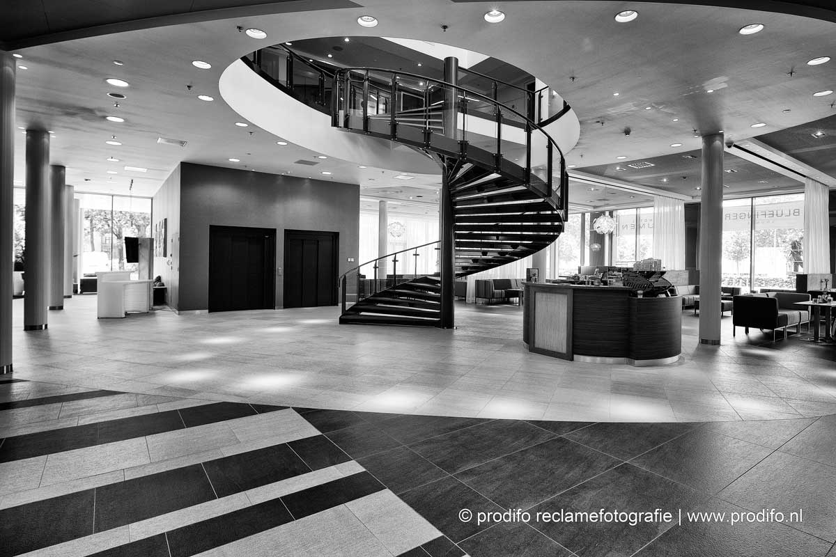 interieurfotografie van Hotel Lumen in Zwolle
