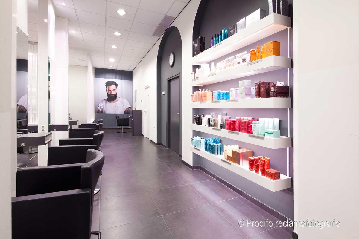 Interieurfotograaf naar de kapper | Prodifo - Vakfotografie met stijl